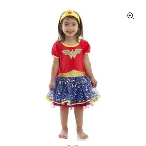 Like new Wonder Woman girls full costume dress 4T